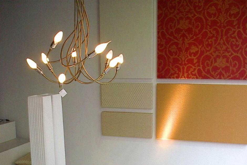 Textile Wandbilder in beliebiger Größe machen Ihren Raum sowohl optisch, als auch akustisch wohnlicher.