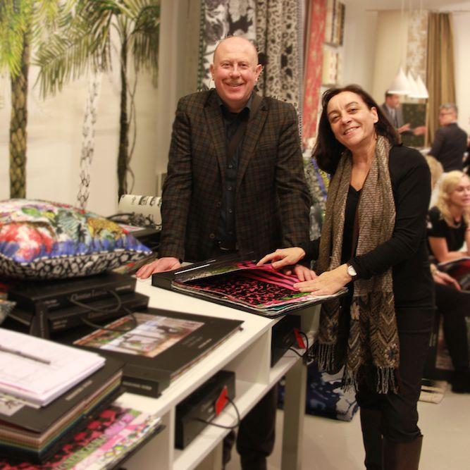 Rainer Scheid und Petra Mathis Scheid auf der Parismesse am Stand von Designers Guild. Um Sie kompetent zu beraten, halten wir uns ständig auf dem Laufenden.