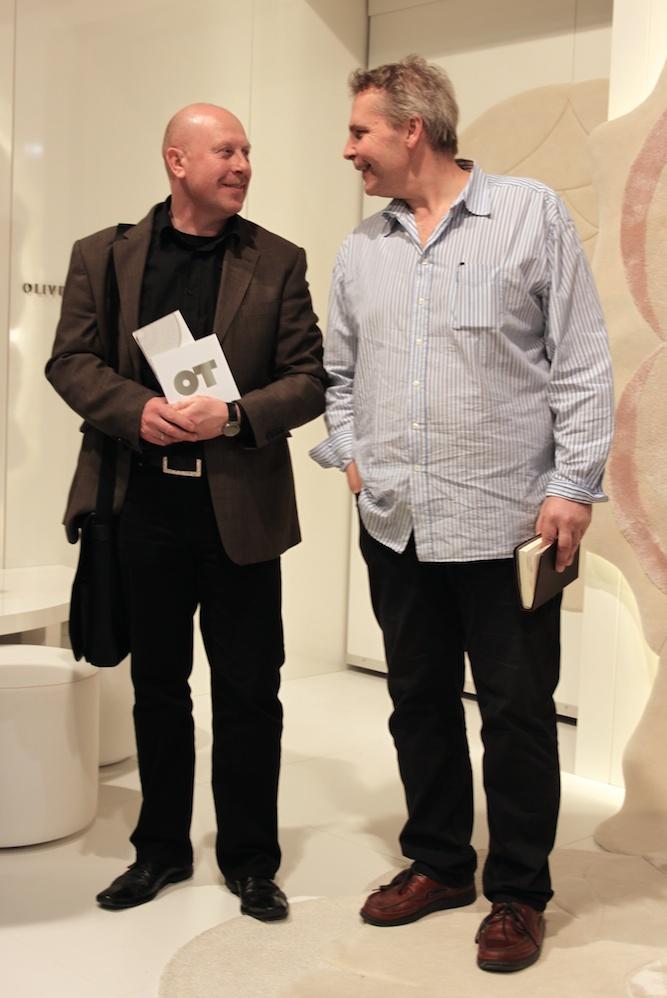Rainer Scheid im Gespräche mit Oliver Treutlein - unserem kompetenten Partner für Teppiche.