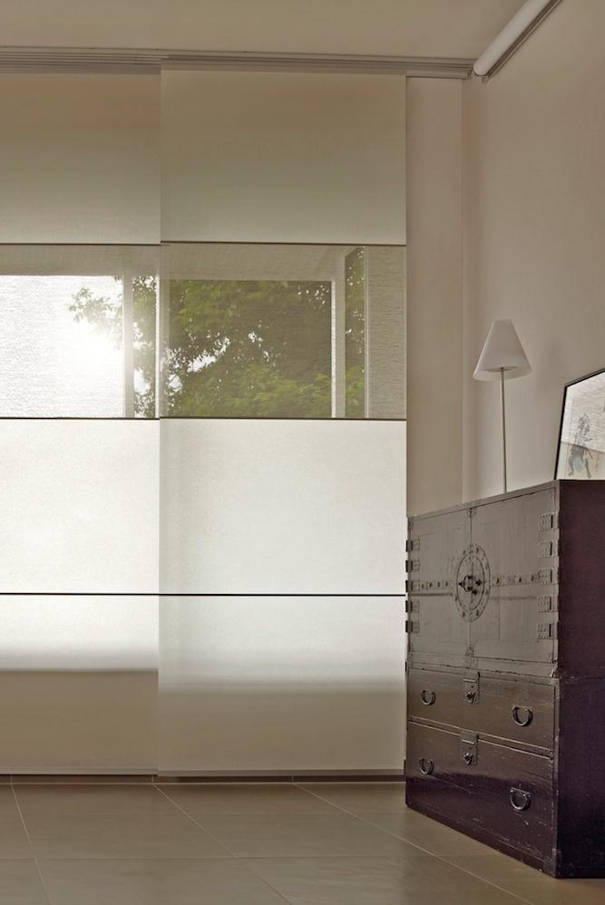 Schiebepanele können Elementweise individuell angepasst werden. Auch transparente Elemente sind möglich.