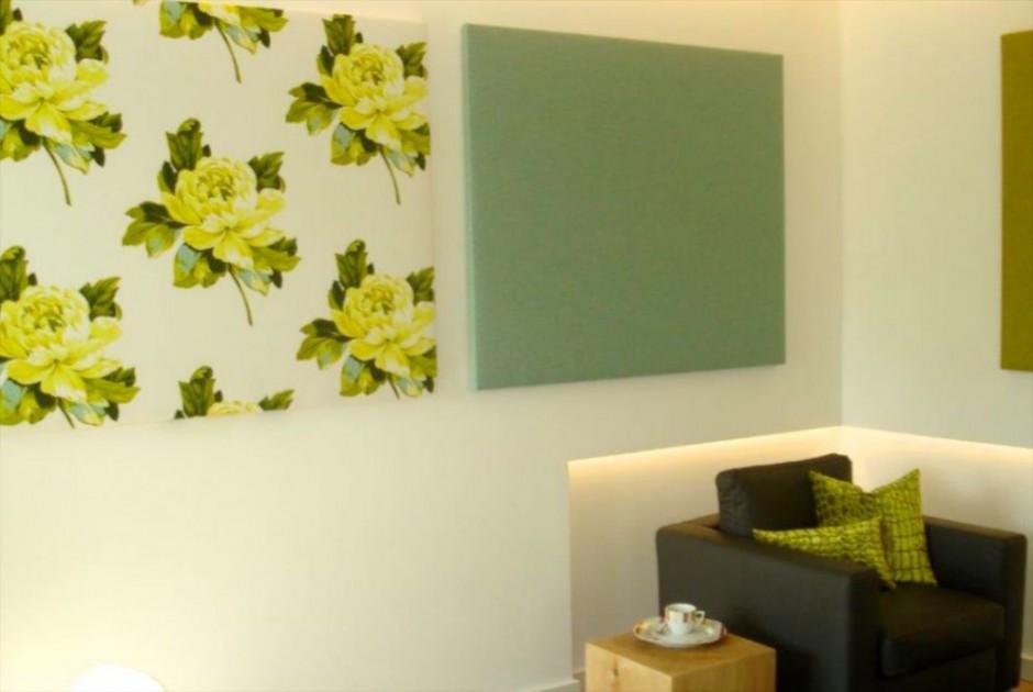 Bildbespannungen als Wandgestaltung eignet sich für den privaten, aber auch den Professionellen Bereich. Die Textilbilder wirken in Büroräumen, Fluren und Lobbies.